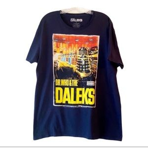 Doctor Who&The Daleks 50th Anniversary Tee Blue L